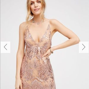 Free People Night Shimmers Mini Dress ❤️